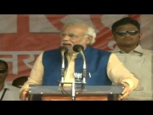 Shri Narendra Modi addressing a gathering in Bastar, Chhattisgarh