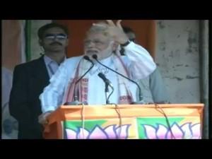 Shri Narendra Modi addressing a massive gathering in Biswanath Chariali ,Assam 31-03-2014
