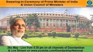 Swearing-in-Ceremony of Narendra Modi as PM of India 26-05-2014